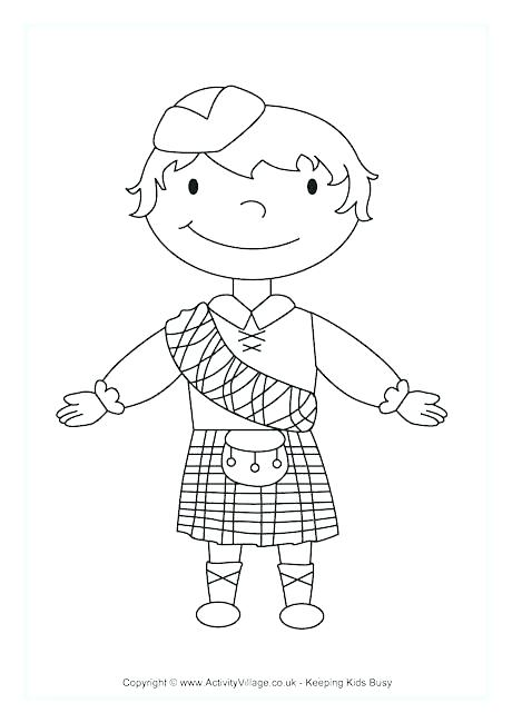 460x650 Coloring Page Of Boy