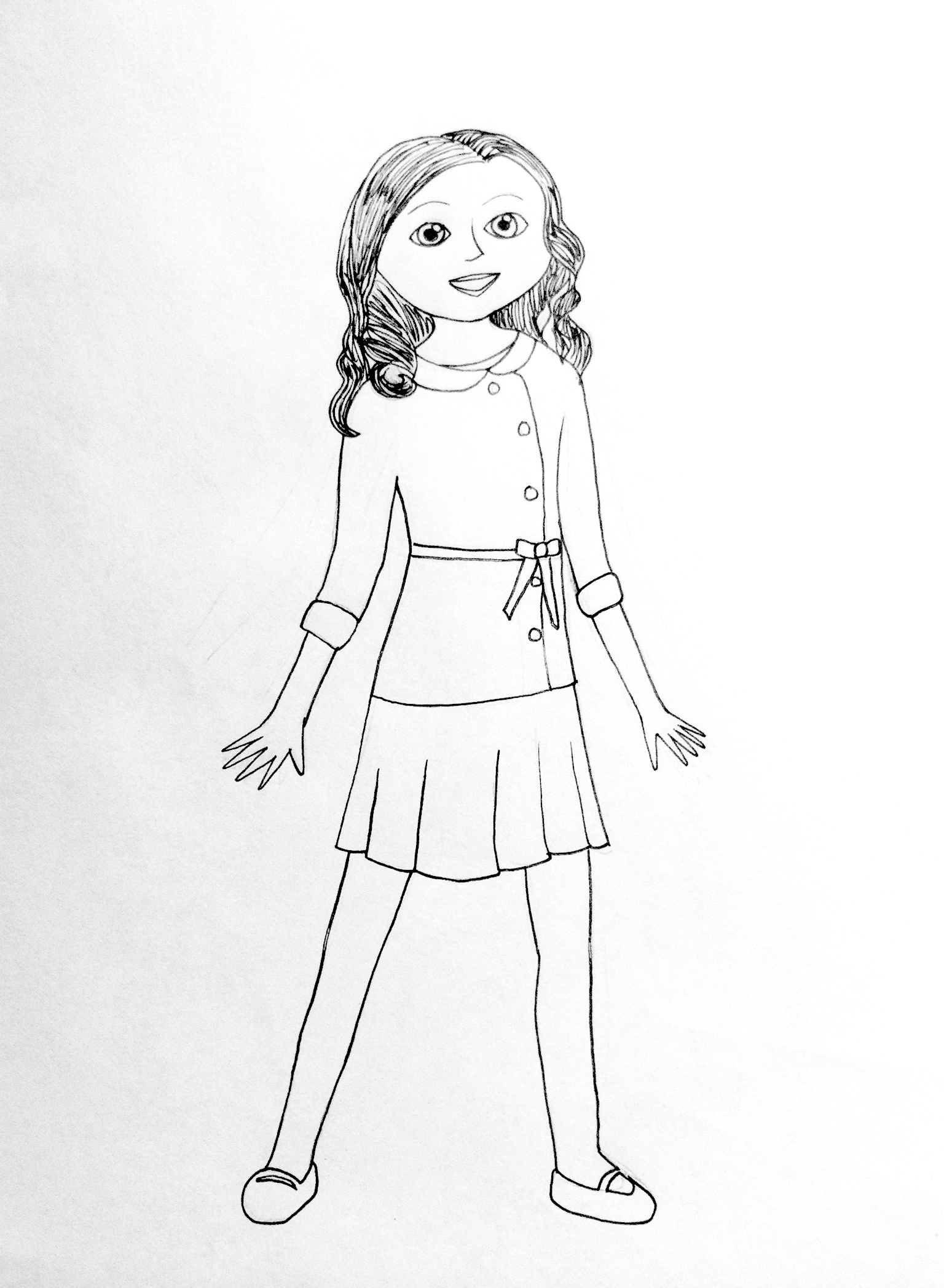 1536x2095 Free Coloring Pages Of American Girl Doll
