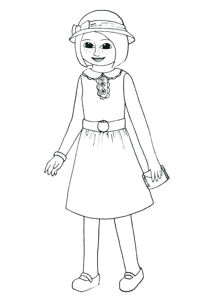 689x965 Free Printable Girl Doll Coloring Pages American Girl Coloring