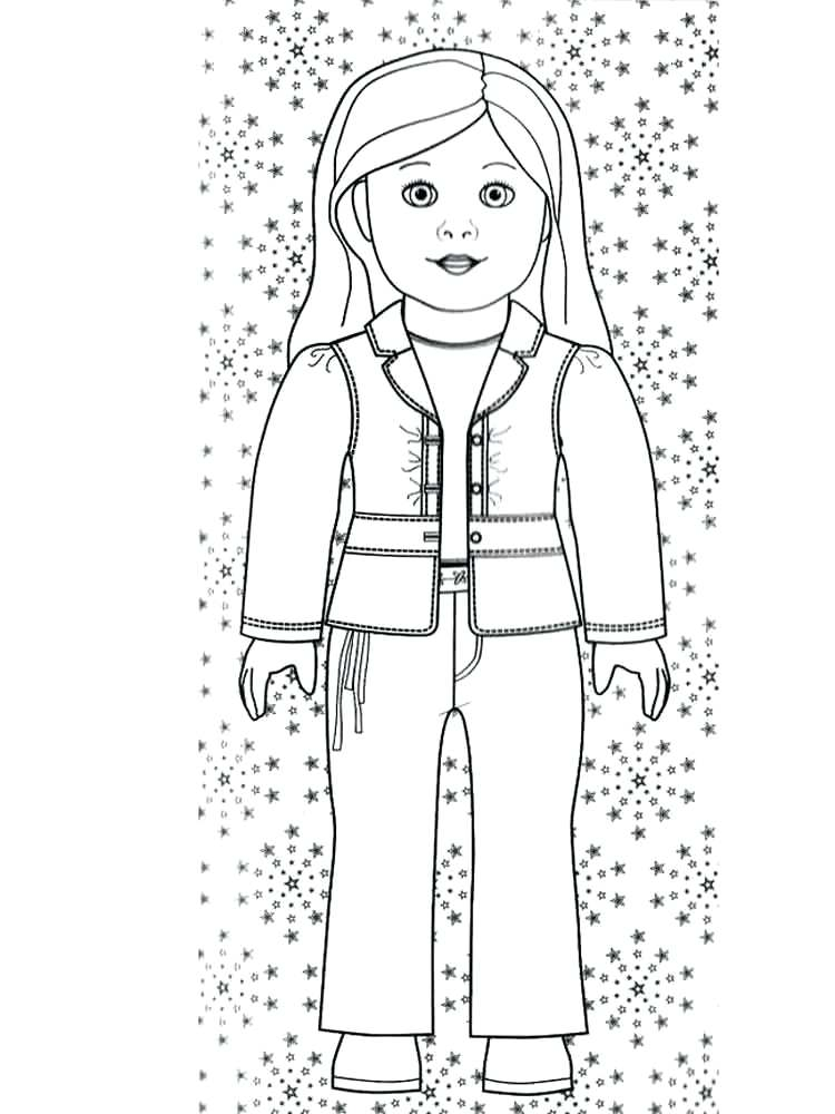750x1000 Girl Doll Coloring Pages Free Printable Girl Cute Coloring