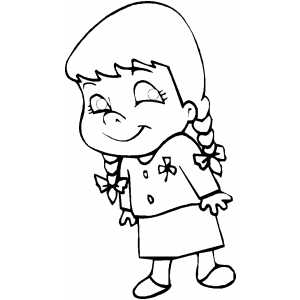 300x300 Smiling Little Girl Coloring Sheet