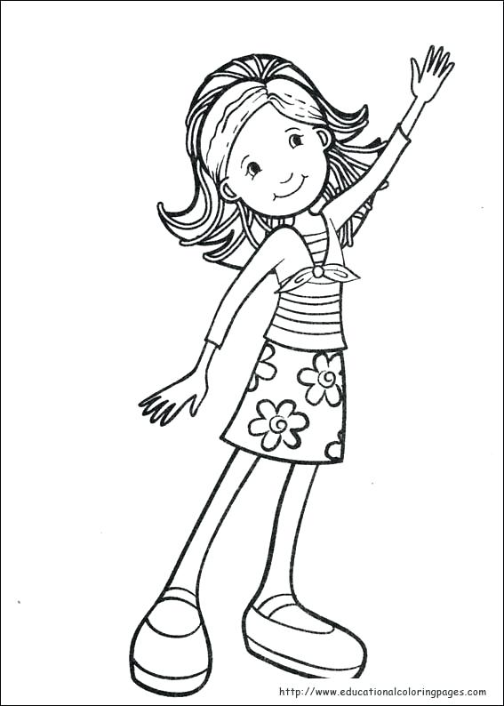 567x794 Coloring Pages Of Girls