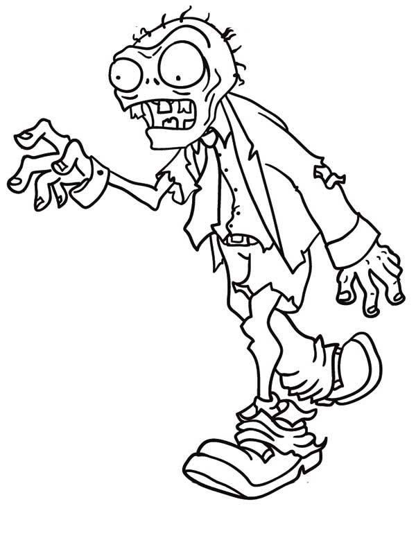 600x776 Free Printable Zombies Coloring Pages For Kids