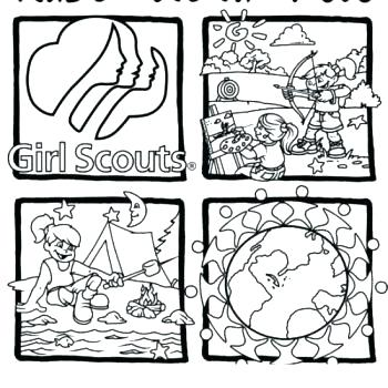 350x350 Girl Scout Cookie Coloring Pages Cookies