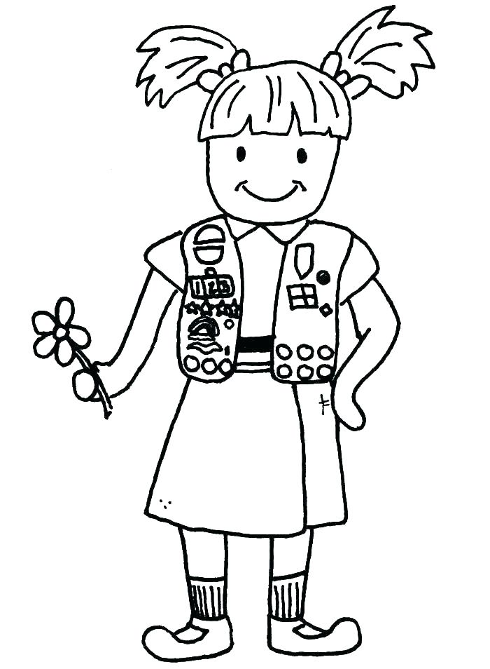 700x954 Girl Scout Cookie Coloring Pages