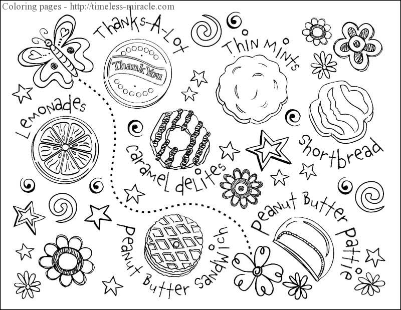 800x619 Girl Scout Cookies Coloring Pages Cookie Coloring Pages Also