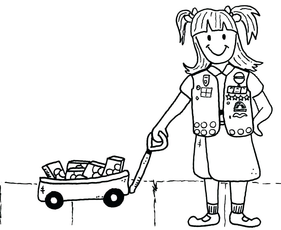 940x768 Girl Scout Cookies Coloring Pages Girl Scout Cookie Coloring Pages
