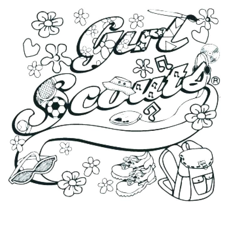 730x730 Girl Scout Cookies Coloring Pages With Girl Scout Cookies Coloring