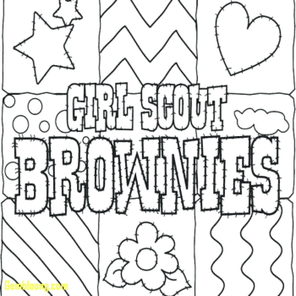 1024x1024 Girl Scout Promise Printable Coloring Page Printable Coloring Page