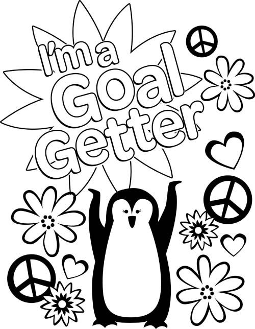 500x644 I Am A Goal Setter Coloring Sheet Girl Scouts Cookie Goals