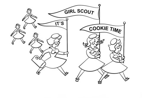 480x333 Its Girl Scout Cookie Time Coloring Page On Girl Scout Cookie