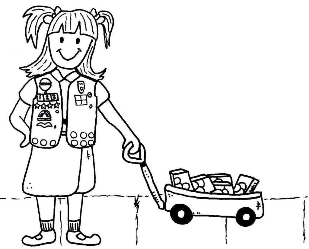 Girls Scout Cookie Coloring Pages At Getdrawings Com Free For