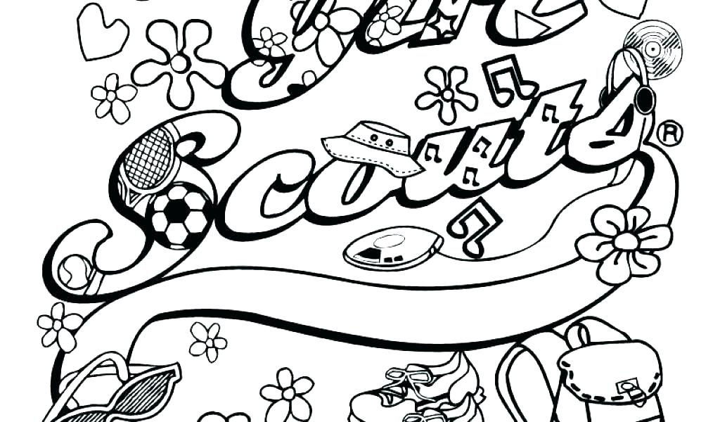 1024x600 Girl Scout Cookie Coloring Pages