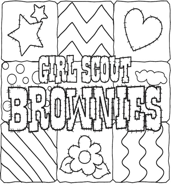 600x653 Brownie Coloring Pages