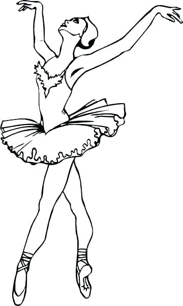 360x602 Pointe Shoes Coloring Pages Ballet Coloring Pages And Coloring