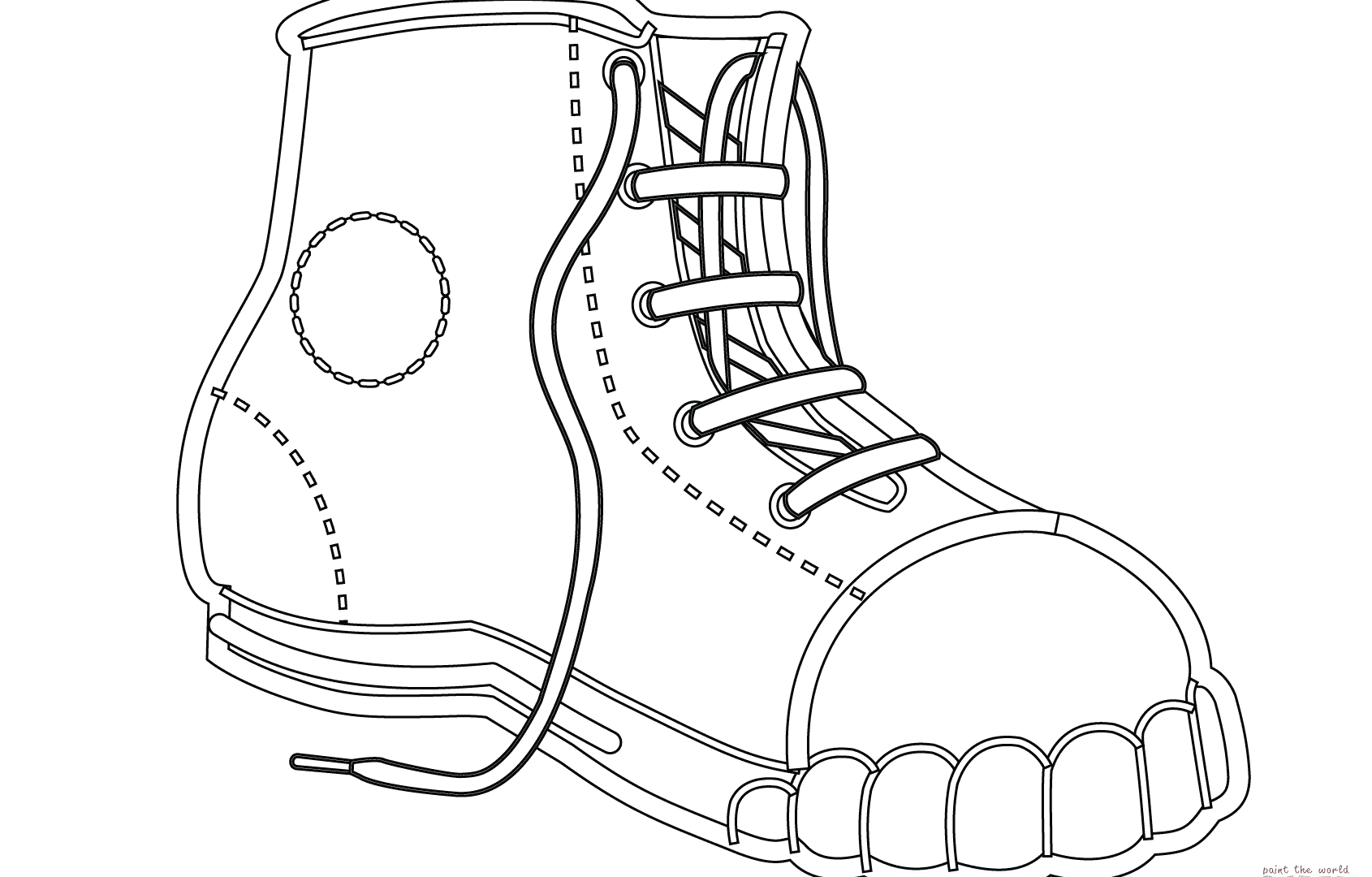 1690x1080 Realistic Basketball Jordan Shoe Coloring Pages Now Color Free