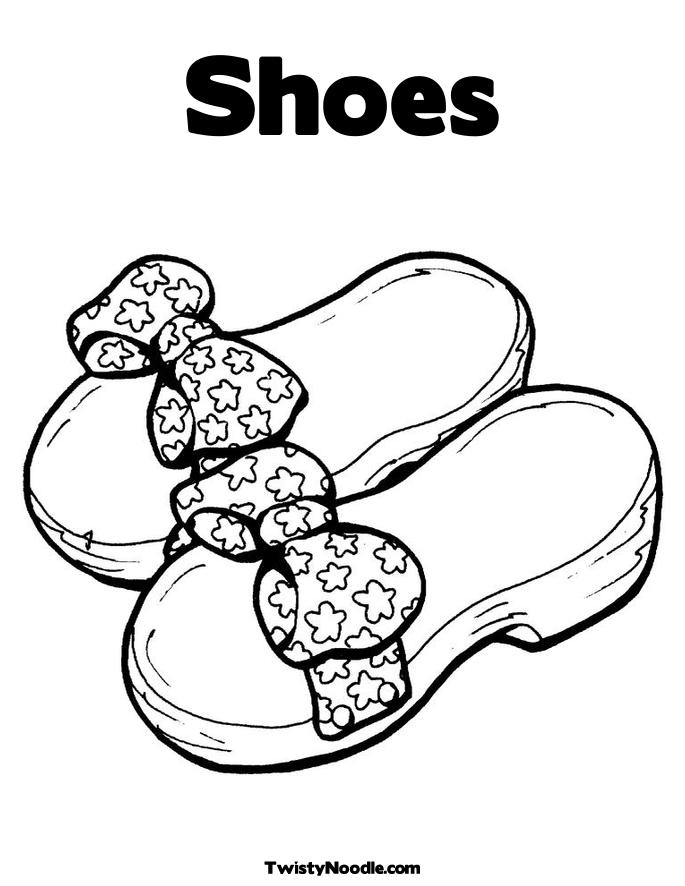 685x886 Shoes Coloring Pages To Print Free