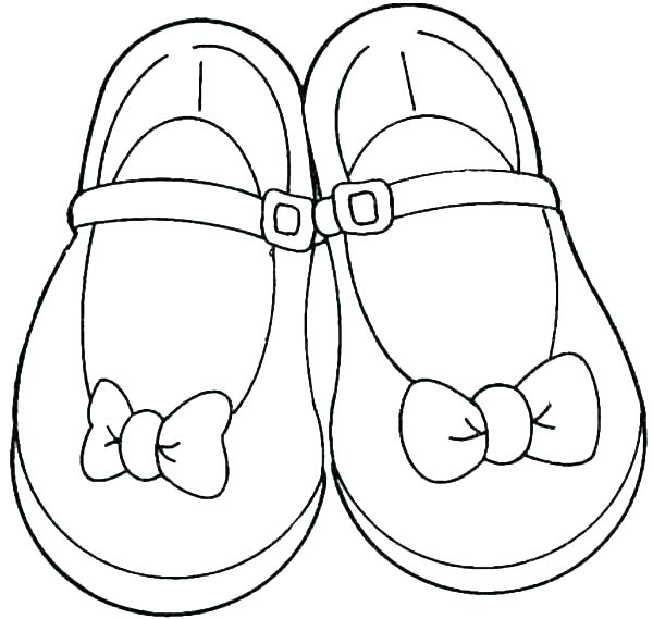 600x569 Ballerina Shoes Coloring Pages