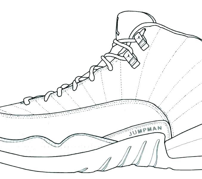 678x600 Jordan Shoes Coloring Pages Online