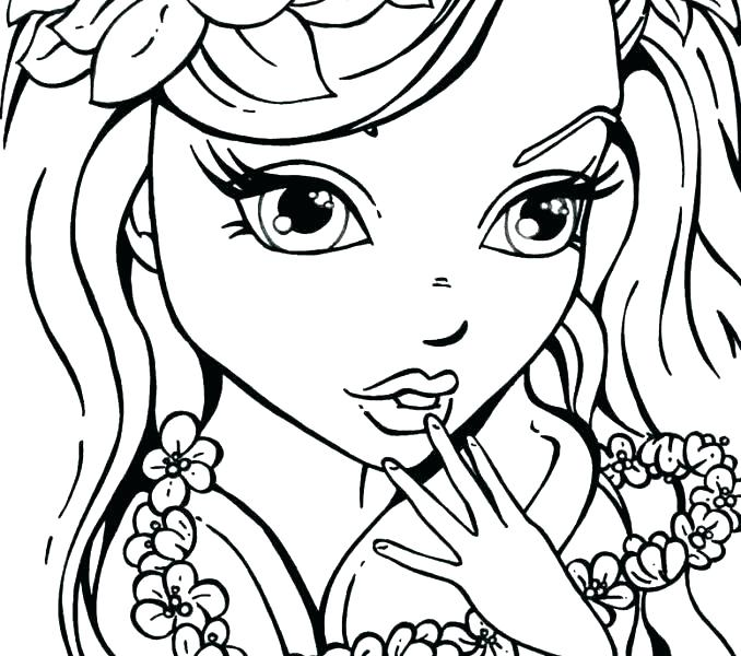 Girly Coloring Pages Printable