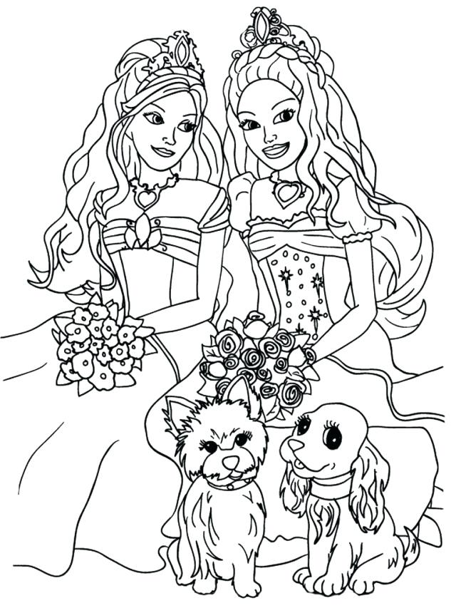 640x853 Cute Girly Coloring Pages Download Barbie Coloring Pages For Girly