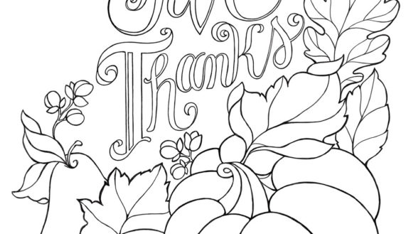 585x329 Give Thanks Coloring Page Psalm Bible Verse Readgyan Give