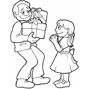 300x300 Gift Giving Coloring Page