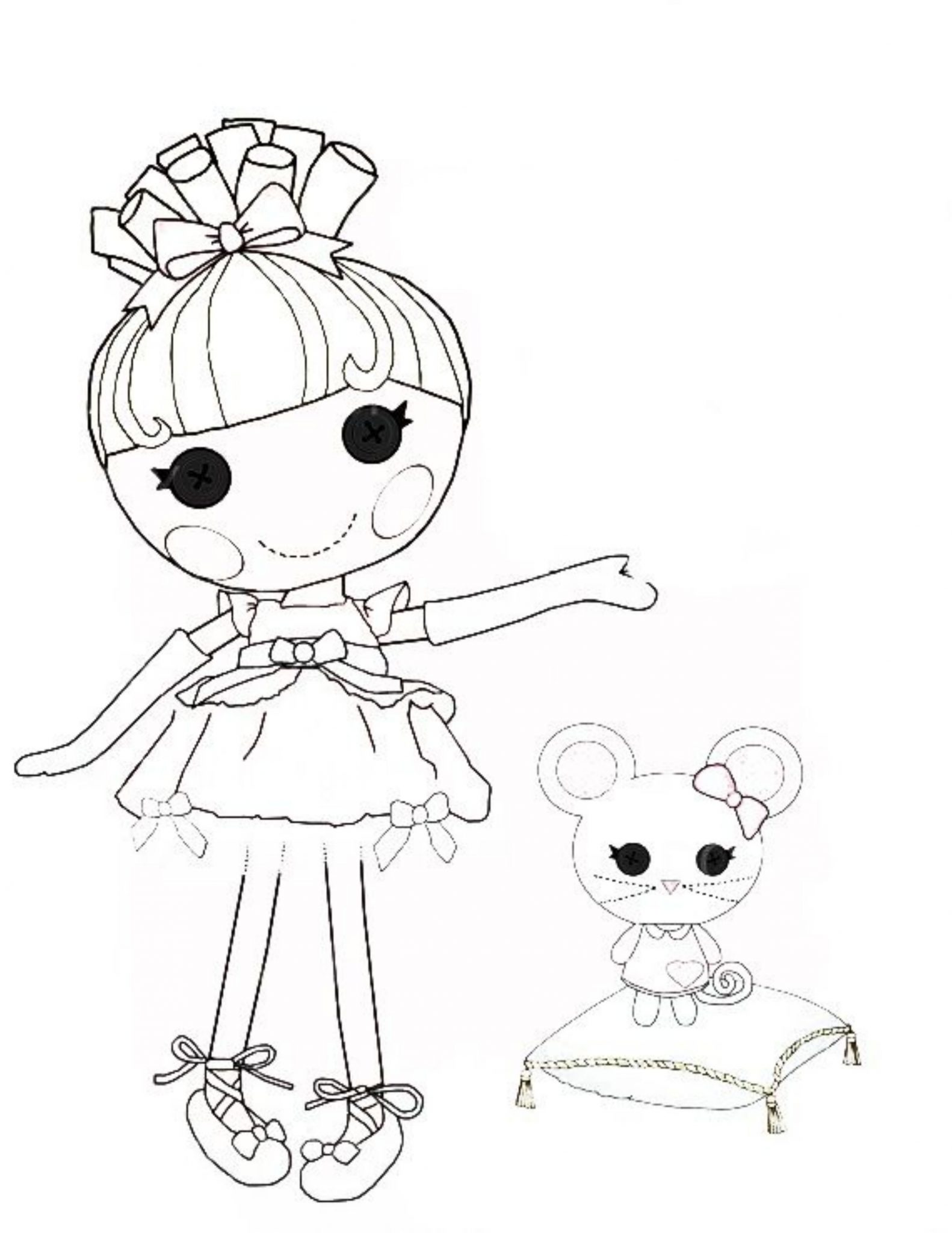 1582x2048 Giving Task For Kids To Have Lalaloopsy Coloring Pages