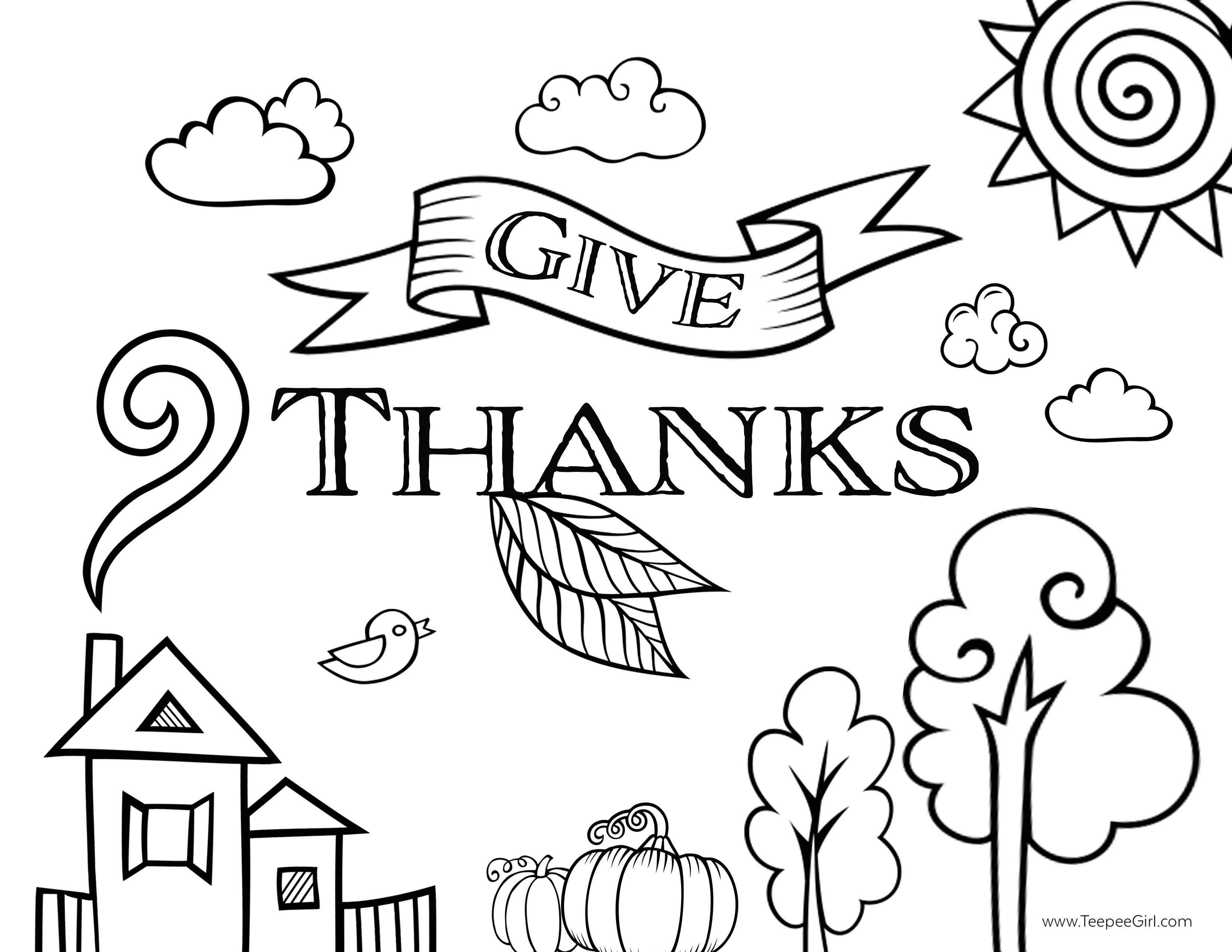 3300x2550 Giving Thanks Coloring Page