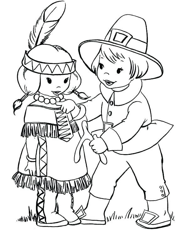 600x734 Thanksgiving Pilgrim Coloring Sheets Pilgrim Boy Giving