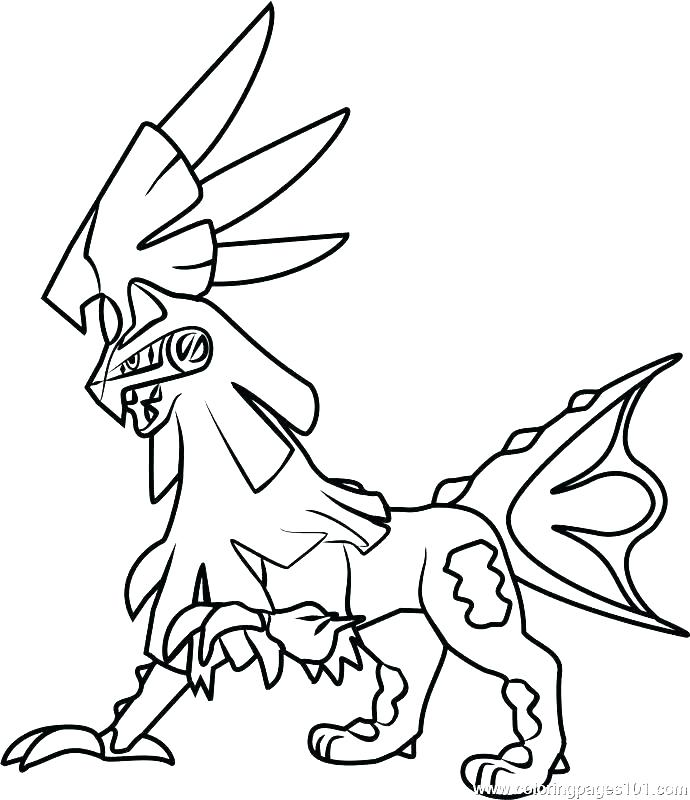 690x800 Glaceon Coloring Pages Template