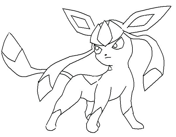 602x468 Glaceon Para Colorear Coloring Pages Glaceon Para Pintar