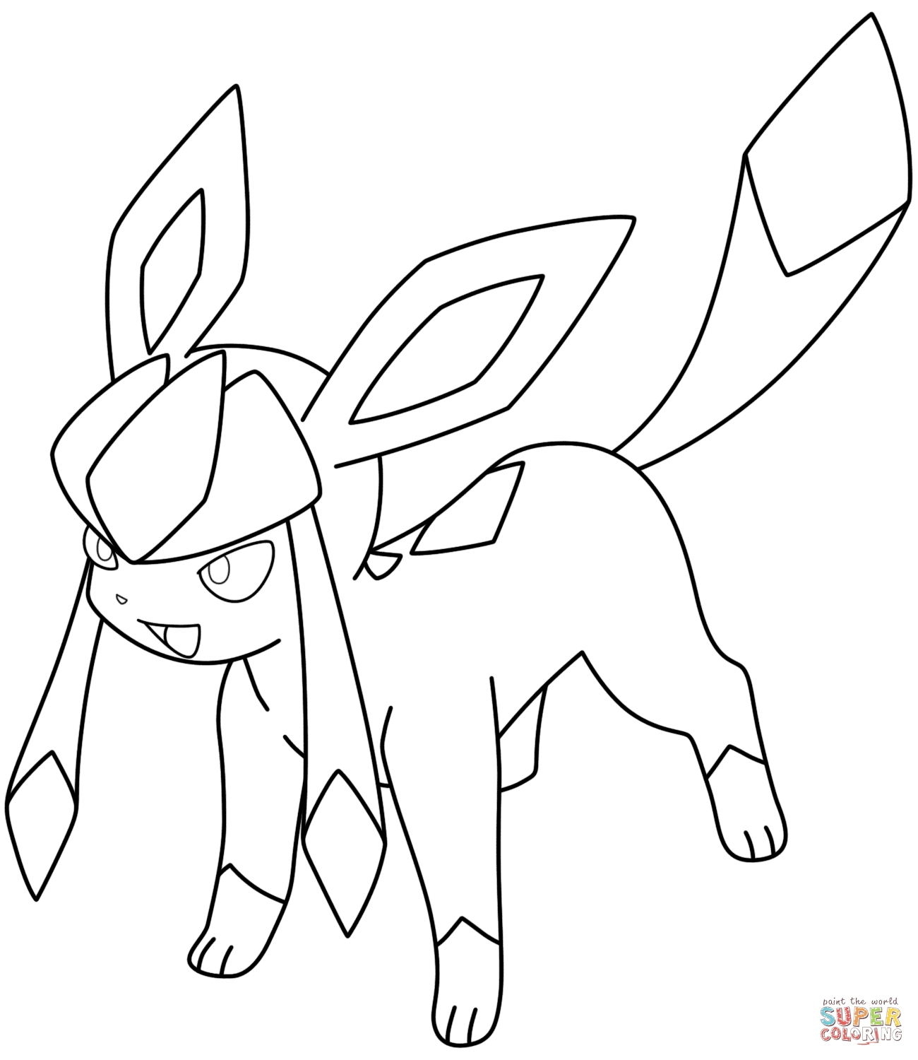 1300x1500 Genuine Glaceon Coloring Pages To Print For Kids