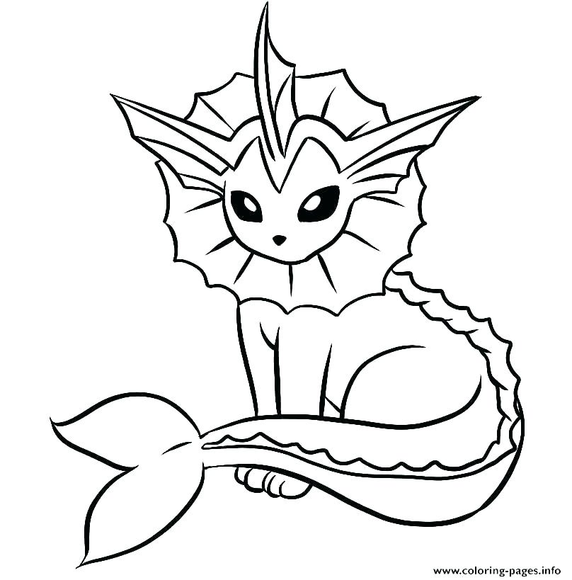 808x819 Pokemon Coloring Pages Eevee Evolutions Glaceon Printable Sheets