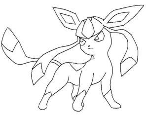 300x233 Pokemon Coloring Pages Glaceon Eeveelutions Eevee Evolutions