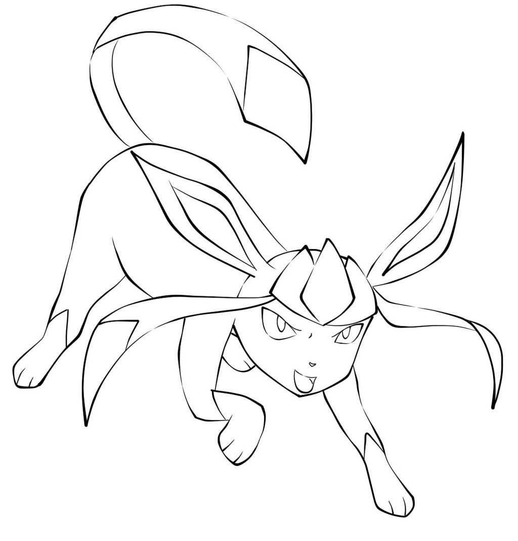 1024x1069 Pokemon Glaceon Coloring Pages