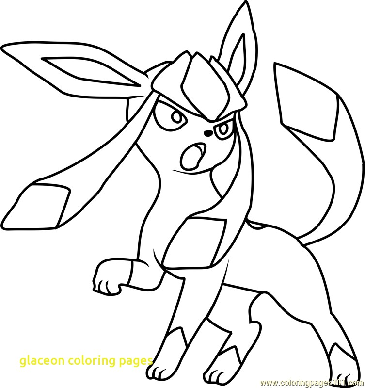 753x800 Glaceon Coloring Pages