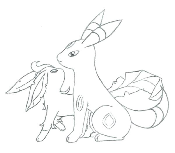 Glaceon Coloring Pages At Getdrawings Com Free For Personal Use