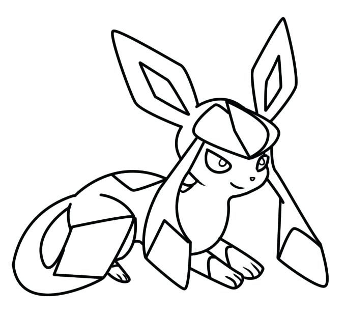 678x623 Glaceon Coloring Pages Coloring Page