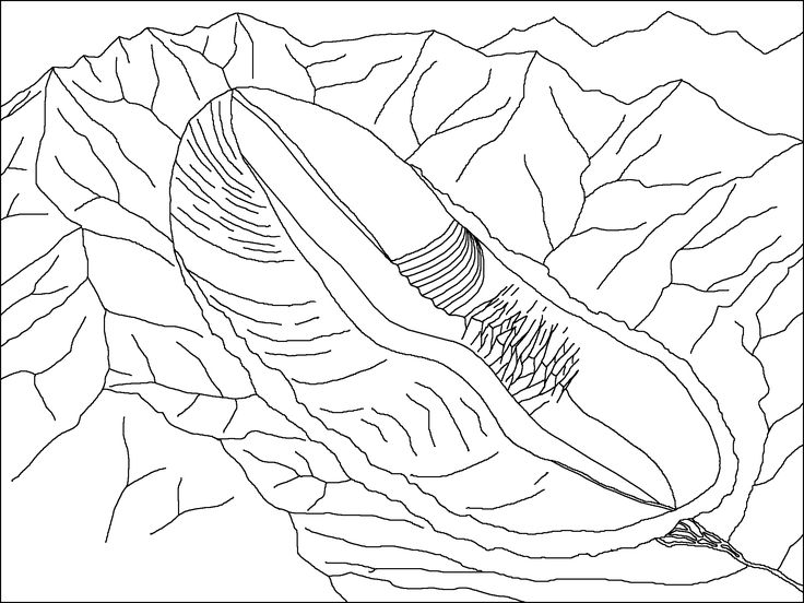 Glacier Coloring Pages