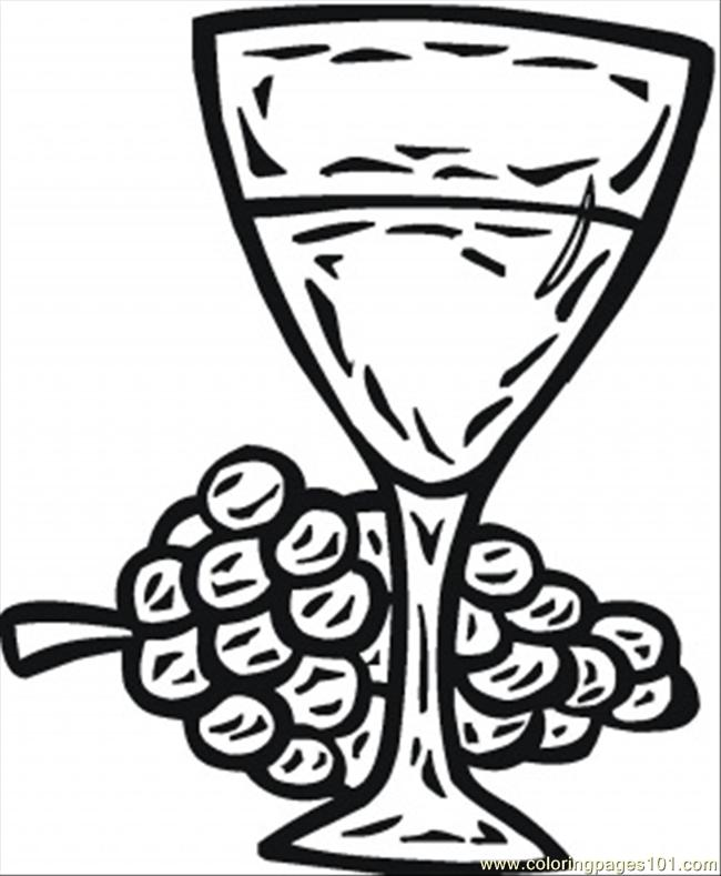 650x789 Glass Of Wine Coloring Page Coloring Page