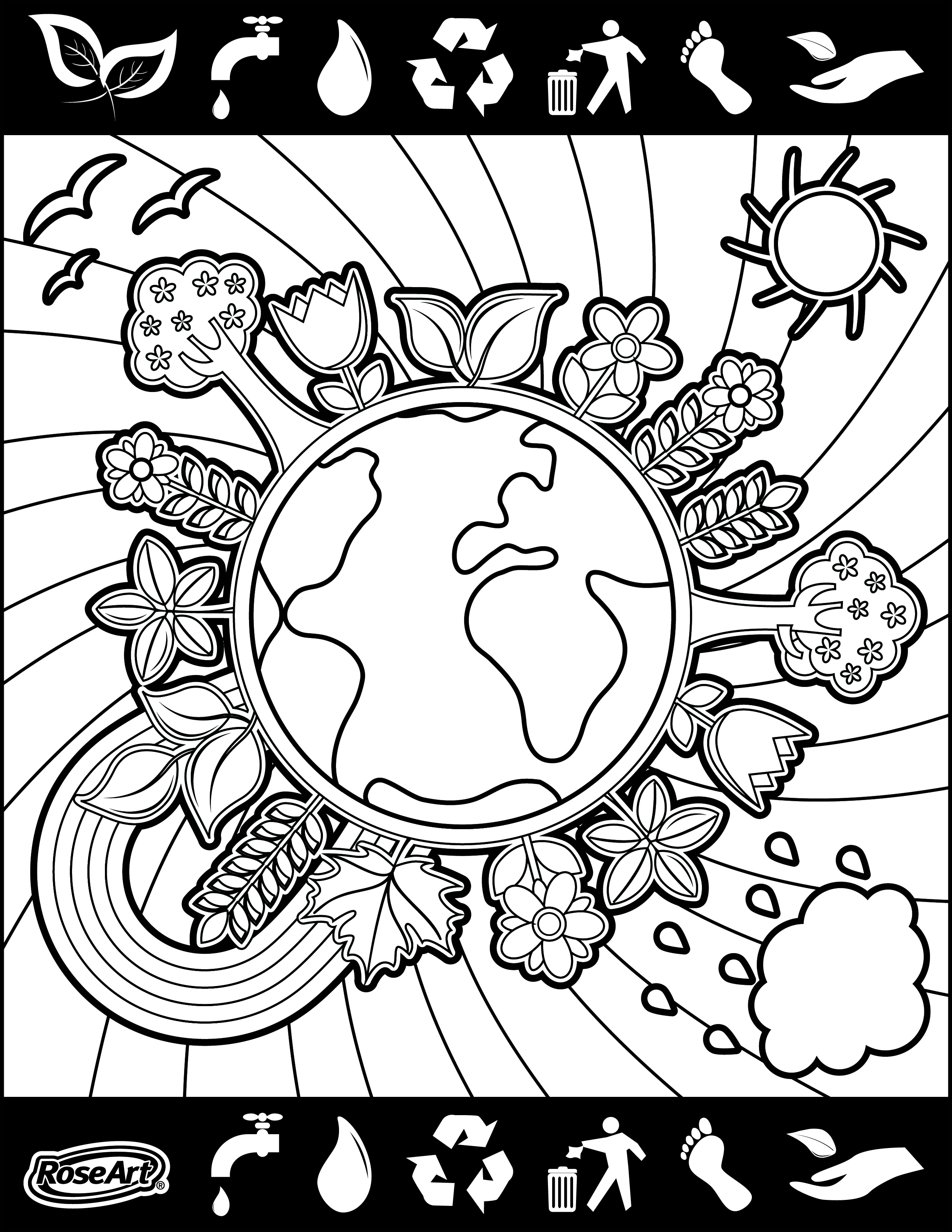 2550x3300 Happy World Environment Day! Happiness Is Coloring