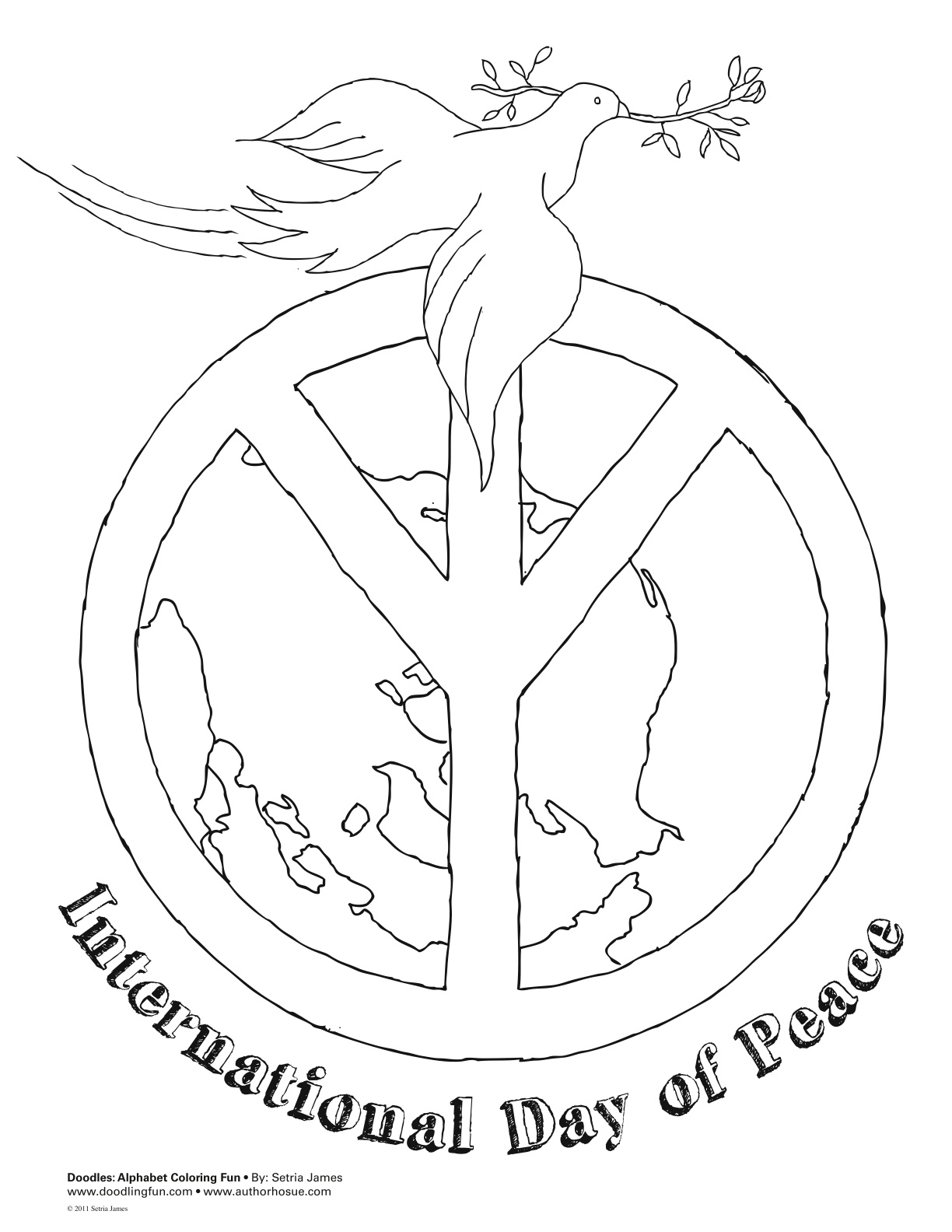 1224x1584 International Peace Day Coloring Page Peace