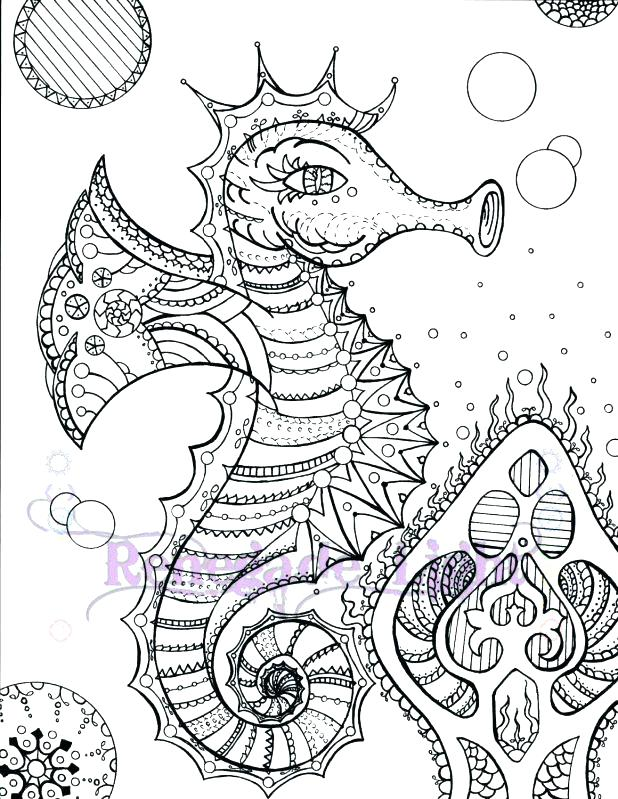 618x799 Seahorse Coloring Page Free Printable Seahorse Coloring Pages