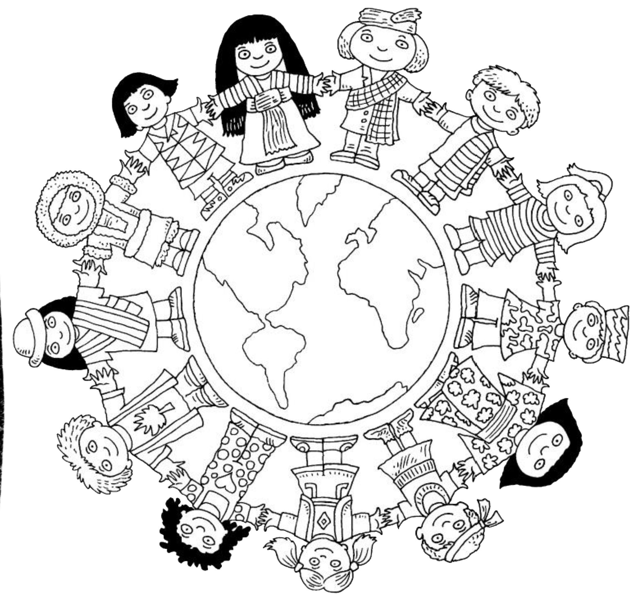 2080x1984 Children Around The World Coloring Page Coloring Pages
