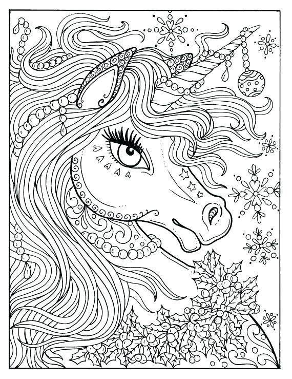 570x738 Unicorns To Color