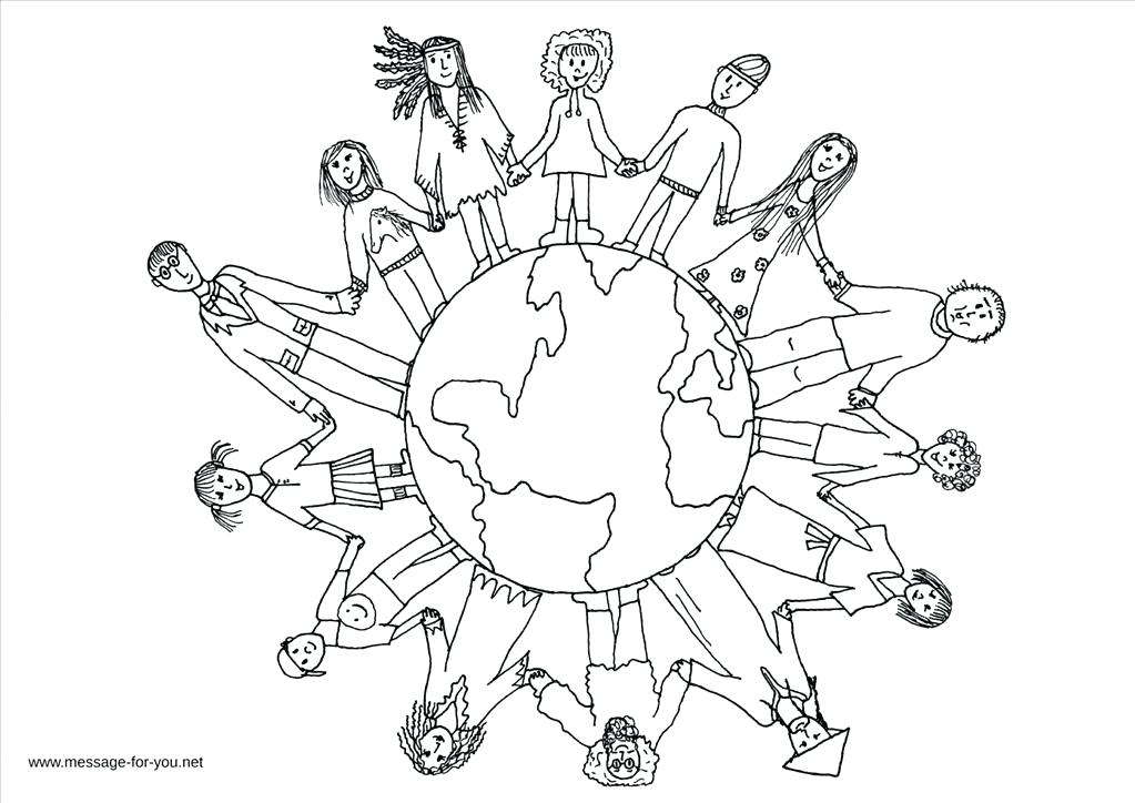 1023x724 Children Of The World Coloring Pages Good Children Of The World