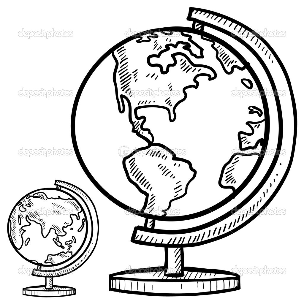 1024x1024 Globe Coloring Page Linefa Me Throughout