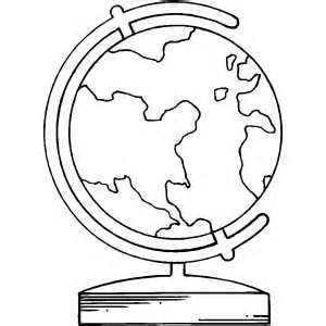 300x300 Globe Coloring Pages