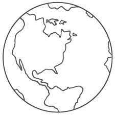 225x225 Globe Coloring Pages